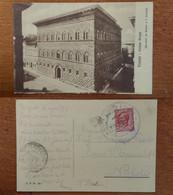 Firenze Palazzo Strozzi Viaggiata 1911 Timbro Tripoli Verificato Per Censura Posta Militare Edifici - Firenze