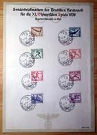 Deutsches Reich 609/16 Auf Schmuckblatt - Covers & Documents