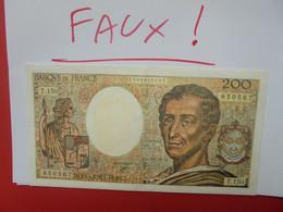FRANCE 200 FRANCS 1992 SUPERBE FAUX AVEC PAPIER PRESQUE EGAL+FILIGRANNE (B.22) - 200 F 1981-1994 ''Montesquieu''