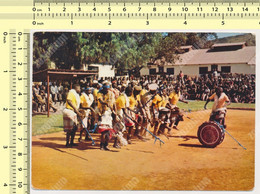 GHANA - African Dancers, Ethnich, 1963 Nice Stamp Flags Vintage Original Old Postcard - Ghana - Gold Coast