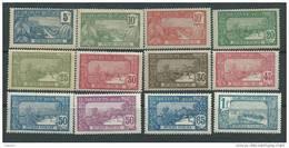 Guadeloupe N° 77 / 88  X Vues La Série Des 12 Valeurs Trace De Charnière Sinon  TB - Unused Stamps