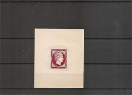 Grèce - Tete D'Hermès ( Essai En Lilas  Sur Papier Creme Mince à Voir) - Probe- Und Nachdrucke