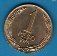 CHILE 1 PESO 1979 KM# 208a Bernardo O'Higgins - Chile