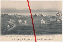 Original Foto - Prilly - Le Lac Et Les Montagnes De Savoie - 1909 - Stempel Lausanne - VD Vaud