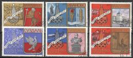 Sowjetunion 4686/91 O Olympia Moskau 1980 - Used Stamps