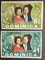 Dominica 1972 Silver Wedding Birds MNH - Dominica (...-1978)