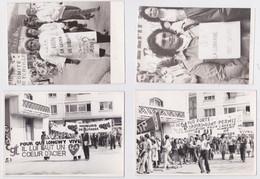 Longwy - Lot De 4 Photographies Manifestation Syndicalisme CGT CFDT Mineurs De Potasse Mine Comité De Terville - Longwy