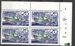 DDR 4x2120 Eckrandviererblock Mit Bogennummer ** Postfrisch - Unused Stamps