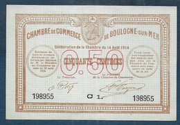 Chambre De Commerce De BOULOGNE SUR MER -  50 Centimes - Pirot N° 11 - Cámara De Comercio