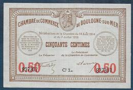Chambre De Commerce De BOULOGNE SUR MER -  50 Centimes - Pirot N° 17 - Chamber Of Commerce
