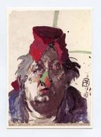 CPM . HORST JANSSEN . Selbst Mit Pappnase Gouache 1983 - Paintings
