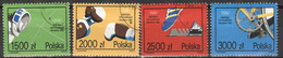 Polen 3388/91 O Olympia Barcelona 1992 - Used Stamps