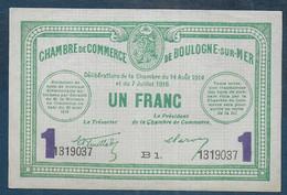Chambre De Commerce De BOULOGNE SUR MER -  1 Franc - Pirot N° 24 - Cámara De Comercio