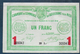 Chambre De Commerce De BOULOGNE SUR MER -  1 Franc - Pirot N° 15 - Chamber Of Commerce