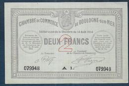 Chambre De Commerce De BOULOGNE SUR MER -  2 Francs - Pirot N° 13 - Chamber Of Commerce