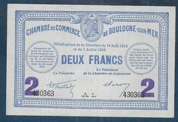 Chambre De Commerce De BOULOGNE SUR MER -  2 Francs - Pirot N° 25 - Cámara De Comercio