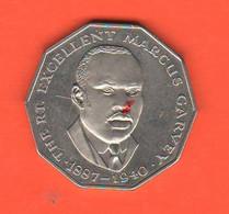 Giamaica 50 Centesimi Jamaica 50 Cents 1976  Nikel Coin Marcus Carvey - Jamaica