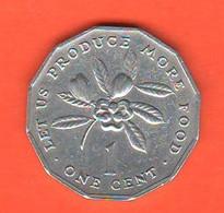 Giamaica 1 Centesimo One 1 Cents 1986 Jamaica  FAO Alluminum Coin - Jamaica