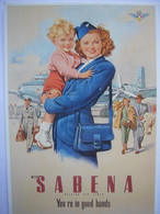 Avion / Airplane / SABENA / Douglas DC-6 / Air Hostess - 1946-....: Modern Era