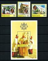 St.Lucía Nº 818/20 Y HB-48 Nuevo - St.Lucie (1979-...)