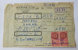 Billet Wagons Lits Bamako Dakar 1956 Soudan Sénégal Mali - Wereld