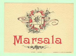 H900 - Etiquette Ancienne Alcool - Marsala - Haberer Plouviez & Douin - Non Classificati