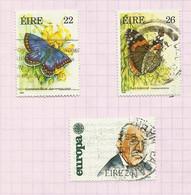 Irlande N°562, 563, 566 Cote 4 Euros - Usati