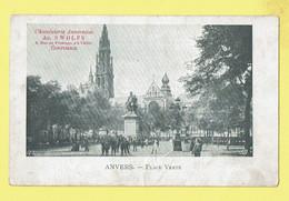 * Antwerpen - Anvers - Antwerp * (VED, Nr 122 - Chocolaterie Ad. Swolfs) Place Verte, Groenplaats, Rubens, Cathédrale - Antwerpen