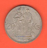 Slovacchia 20 Corone Slovakia 20 Korun  Silver  Tipological Coin - Slovakia