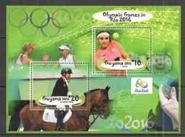 Olympische Spelen 2016 , Guyana - Blok  Postfris - Verano 2016: Rio De Janeiro