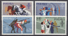 Polen 2674/77 ** Postfrisch Olympia Lake Placid 1980 - Unused Stamps