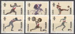 Polen 2452/57 ** Postfrisch Olympia Montreal 1976 - Unused Stamps