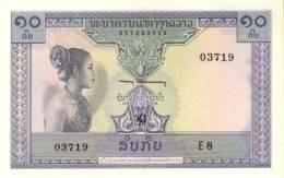 LAOS P. 10b 10 K 1962 UNC - Laos