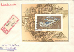 DDR Block 64 Auf R-FDC - FDC: Briefe