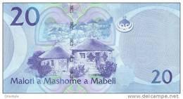 LESOTHO P. 22a 20 M 2010 UNC - Lesotho