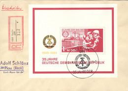 DDR Block 78 Auf R-FDC - FDC: Briefe