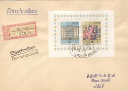 DDR Block 85 Auf R-FDC - FDC: Briefe