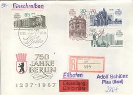 DDR 3071/74 Auf R-Eilboten-FDC - FDC: Covers