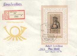 DDR Block 93 Auf R-FDC - FDC: Briefe
