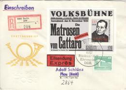 DDR Block 96,2484 Auf R-FDC - FDC: Briefe