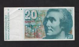 [NC] SVIZZERA / SUISSE / SWITZERLAND - NATIONAL BANK - 20 FRANCS / FRANKEN (H. De SAUSSURE ) - Svizzera