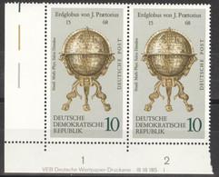 DDR 2x1793 Eckrand Mit Druckvermerk ** Postfrisch - Unused Stamps