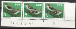 DDR 3x1834 Eckrand Mit Bogennummer ** Postfrisch - Unused Stamps