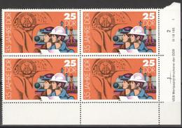 DDR 4x2900 Eckrand Mit Druckvermerk ** Postfrisch - Unused Stamps