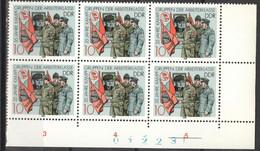 DDR 6x3178 Eckrand Mit Bogennummer ** Postfrisch - Unused Stamps