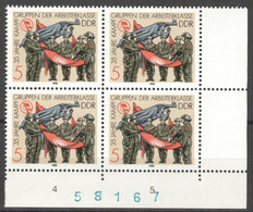 DDR 4x3177 Eckrand Mit Bogennummer ** Postfrisch - Unused Stamps