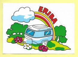 AUTOCOLLANT STICKER - ERIBA - CONSTRUCTEUR DE CARAVANES - CAMPING - Stickers