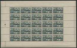 N° 582 Feuille Complète De 25 Ex. COTE 27.5 € Avec Coin Daté Du 21/5/43. Neufs ** (MNH) TB - Ganze Bögen