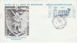MUSEE DE LA POSTE EN ROUSSILLON AMELIE LES BAINS 1997 - Commemorative Postmarks