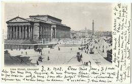 Liverpool - Lime Street - Old Postcard - 1902 - England - United Kingdom - Used - Liverpool